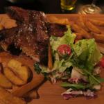 The BBQ belly pork ribs