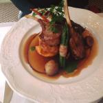 Lamb cutlets with lots of extras, melt in the mouth gorgeous