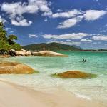 Ilha do Campeche (lado esquerdo da praia)