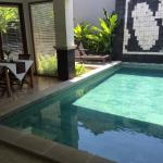 private pool with dining area