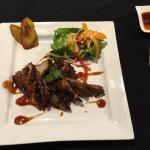 Jerk pork ... beautifully plated and scrumptious!
