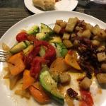 Vegetables and sweet potatoes