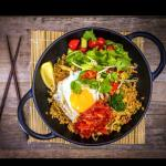 Fried Rice with egg andchilli jam relish