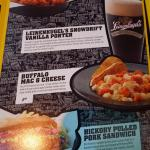 Menu with special items