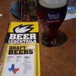 Beer menu, Samuel Adams is good