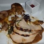 Roast Turkey a la Brasa, Arepa Chorizo Stuffing, Okra Ancianco, Tempranillo Rioja 2007