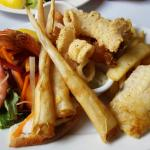 Delicious seafood Freshly prepared lightly crumbed baby calamari & seafood platter. Enjoyed our