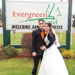 Honeymoon at the evergreen