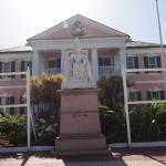 The statue in front of government house
