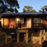 Sunrise on the cabin