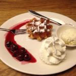 het dessert vooraf