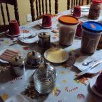 Café da manhã bem farto