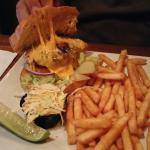 Jalapeños burger and chimichanga