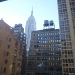 View of Empire State Building from our room