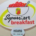 Super Start breakfast area/lobby