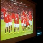 Big screen great for football whilst you dine