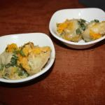 ricotta,chicken and spinach dumpling