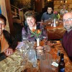 Enjoying dining at the Three Coins Restaurant