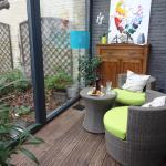 Вид на садик с террасы