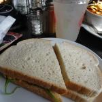 Chicken salad sandwich from the cold case
