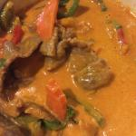 Red curry with pumpkin