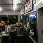 Burger/fries - walk up window, menu, inside