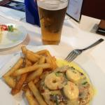 awesome. chicken breast and shrimps. the fries taste great too.