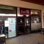 Façade de la brasserie le Club 15