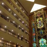 all rooms around a central atrium