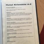Hotel guidebook