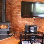 le living room avec la cheminée