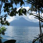 the lake and one of the volcanos