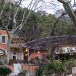 The patio of Les Florets
