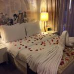Decorated room for our honeymoon :)