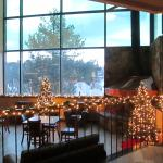 The Lobby, Decorated for Christmas