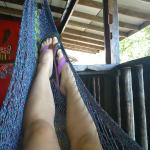 Chill in a hammock and have the Carribean Sea just across the road