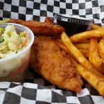 Fish and chips - crispy and delicious