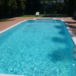 The pool area is very inviting now its summer its got plenty of space for everyone with the grea