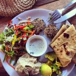 mixed meze plate
