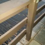 Rotten balcony railings