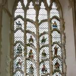 The Jesse window - C14 sculpture, tracery and stained glass