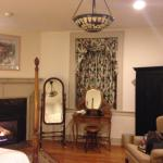 View of the bedroom fireplace