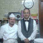 camarero y cocinero