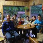 Randal's family in the B&B dining room