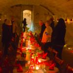 Dinner in the Castle's old olive pressing room underground