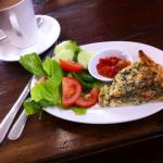 Quiche and Salad with Coffee