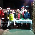 serving Hot chocolate and cookies supplyed by Hotel