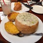 Claim Jumper - Clam Chowder in Sour Dough Bowl