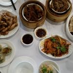Assorted yum cha dishes