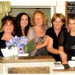 Sally, Debs & Emily with staff from Castle Raising